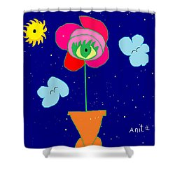 Shower Curtain featuring the painting Alone With God by Anita Dale Livaditis
