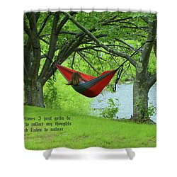 Alone With My Thoughts Shower Curtain by Dennis Baswell
