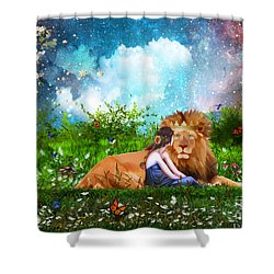 Alone With The King Shower Curtain by Dolores Develde