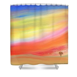 Alone With The Sunset Shower Curtain