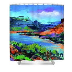 Along Colorado River - Utah Shower Curtain