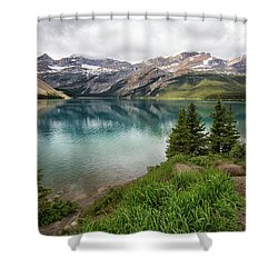 Along Icefields Parkway Shower Curtain