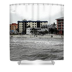 Along The Beach Shower Curtain by Kathleen Struckle