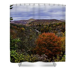 Along The Blue Ridge Parkway Shower Curtain