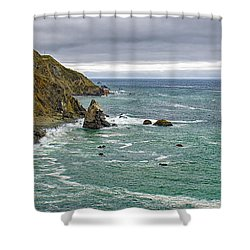 Along The Coast Highway Shower Curtain