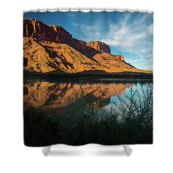 Shower Curtain featuring the photograph Along The Colorado by Gary Lengyel