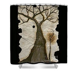 Along The Crumbling Fork In The Road Of The Tree Of Life Acfrtl Shower Curtain by Talisa Hartley