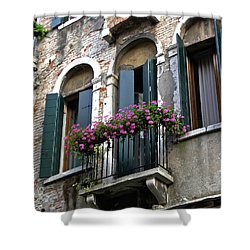 Shower Curtain featuring the photograph Along The Grand Canal by Lynda Lehmann