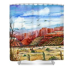 Along The New Mexico Trail Shower Curtain