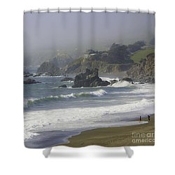 Along The Pacific #2 Shower Curtain
