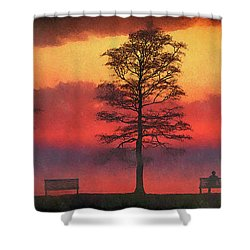 Along The Shore Of The Lake... Shower Curtain