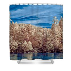 Along The Smith River In Infrared Shower Curtain