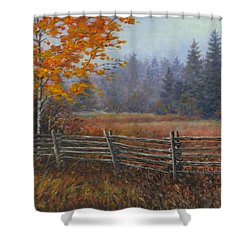 Along The Stoney Batter Road Shower Curtain