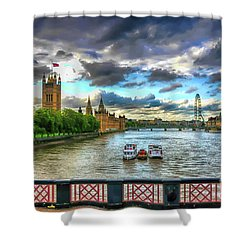 Along The Thames Shower Curtain