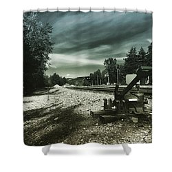 Along The Tracks Shower Curtain