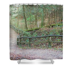 Along The Trail, Life Happens Shower Curtain