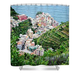 Along The Via Del Amore Shower Curtain