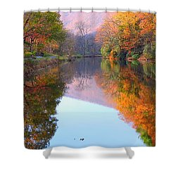 Along These Autumn Days Shower Curtain