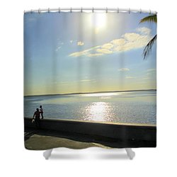 Along The Malecon In Cienfuegos, Cuba Shower Curtain
