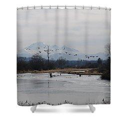 Alouette River Shower Curtain