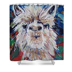 Alpaca Crazed Shower Curtain