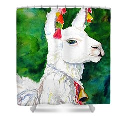 Alpaca With Attitude Shower Curtain