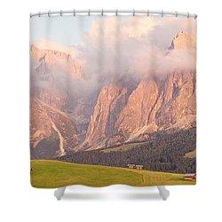 Alpe Di Suisi Sunset Panorama Shower Curtain