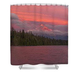 Alpenglow At Lost Lake Shower Curtain