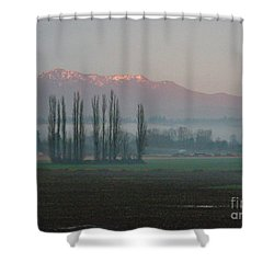 Shower Curtain featuring the photograph Alpenglow  by Jeanette French
