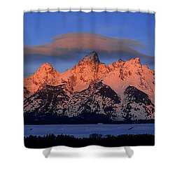 Alpenglow Tetons 2 Shower Curtain