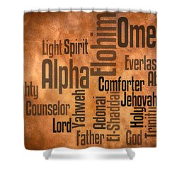 Shower Curtain featuring the digital art Alpha And Omega by Angelina Vick