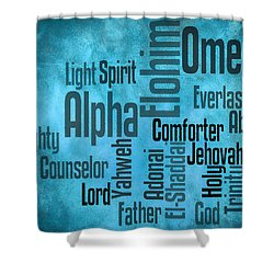 Shower Curtain featuring the digital art Alpha by Angelina Vick