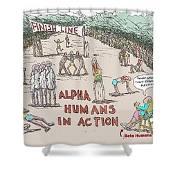 Alpha V. Beta Shower Curtain