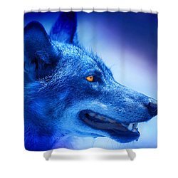 Alpha Wolf Shower Curtain