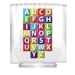 Alphabet Shower Curtain by Samuel Whitton