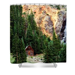 Alpine Cabin Shower Curtain