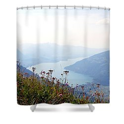 Alpine Flora On Top Of Schynige Platte Shower Curtain