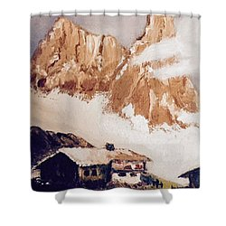 Alpine Home  Shower Curtain