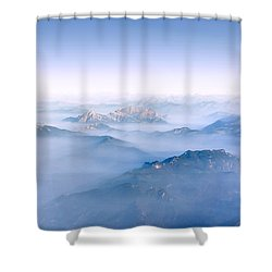 Shower Curtain featuring the photograph Alpine Islands by Dmytro Korol