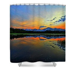 Shower Curtain featuring the photograph Alpine Lake Glow by Scott Mahon
