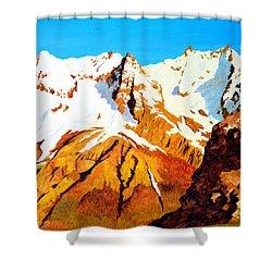 Alpine Landscape Shower Curtain