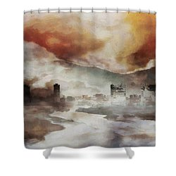 Alpine Landscape Shower Curtain