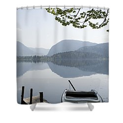 Shower Curtain featuring the photograph Alpine Moods by Ian Middleton