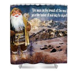 Alpine Santa Card 2015 Shower Curtain
