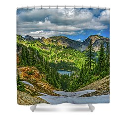Alpine Solitude Shower Curtain