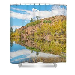 Alpine Vale Reflection  Shower Curtain