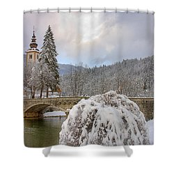 Alpine Winter Beauty Shower Curtain