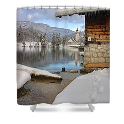 Alpine Winter Clarity Shower Curtain