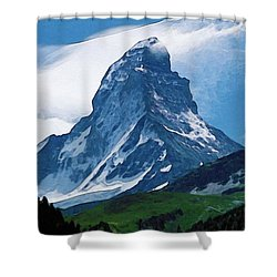 Alps Shower Curtain