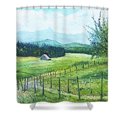 Alps From Geneva Switzerland 2016 Shower Curtain by Enver Larney